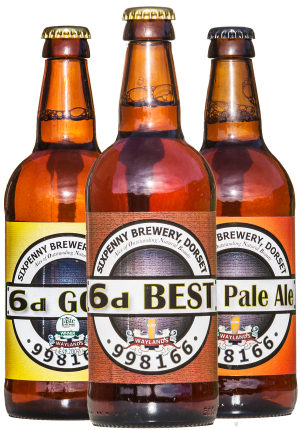 Sixpenny Brewery Bottled craft beer selection